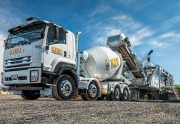 DYNAMIX Concrete Mixer Truck with SIMEM Bison supplied by Gough Industrial Solutions