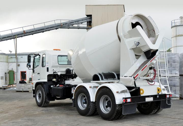 DYNAMIX Concrete Mixer Truck at the Batching Plant